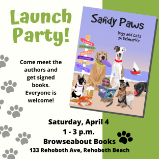 Sandy Paws Book Launch